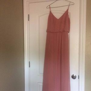 Dusty Rose chiffon dress